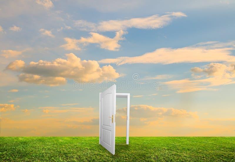 Open door to new life stock photography