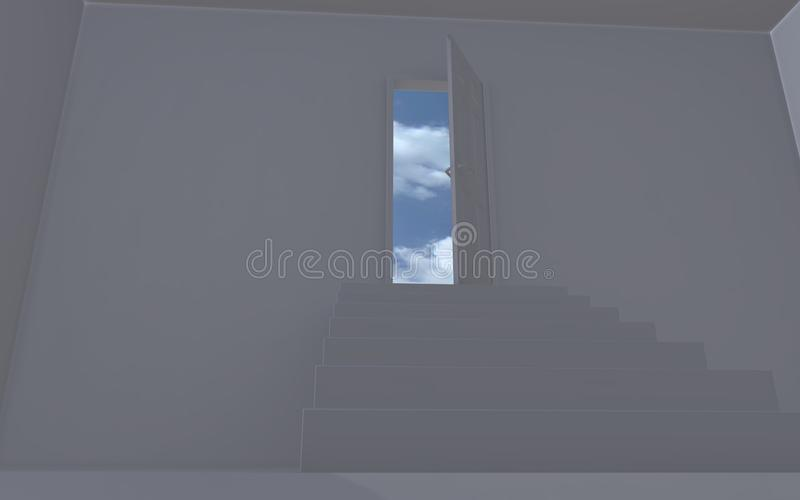 Download Open door to the sky stock illustration. Image of concepts - 16786879