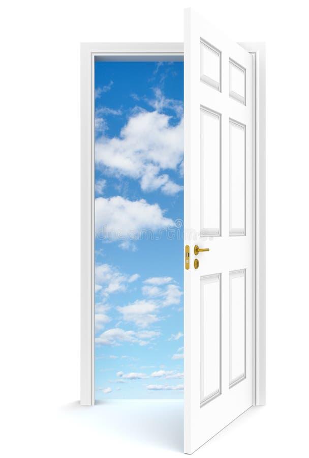 Open door to sky. stock illustration