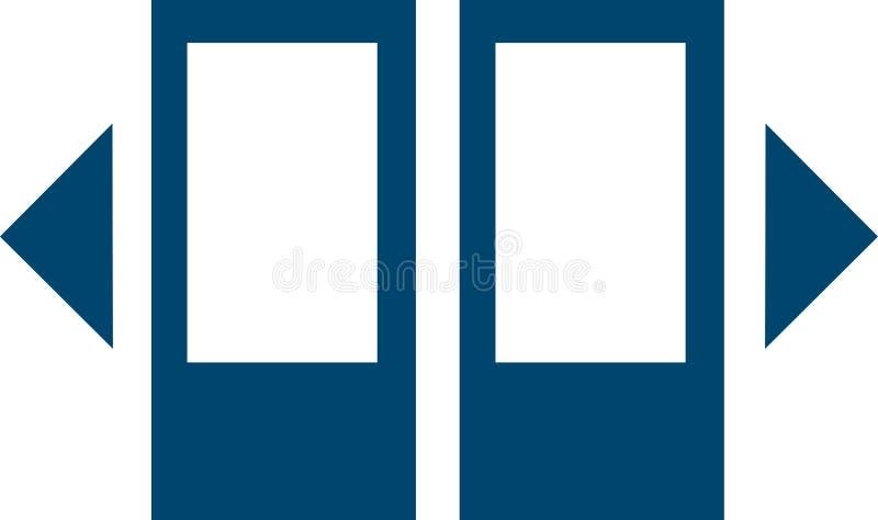 Open door in transport icon stock photos