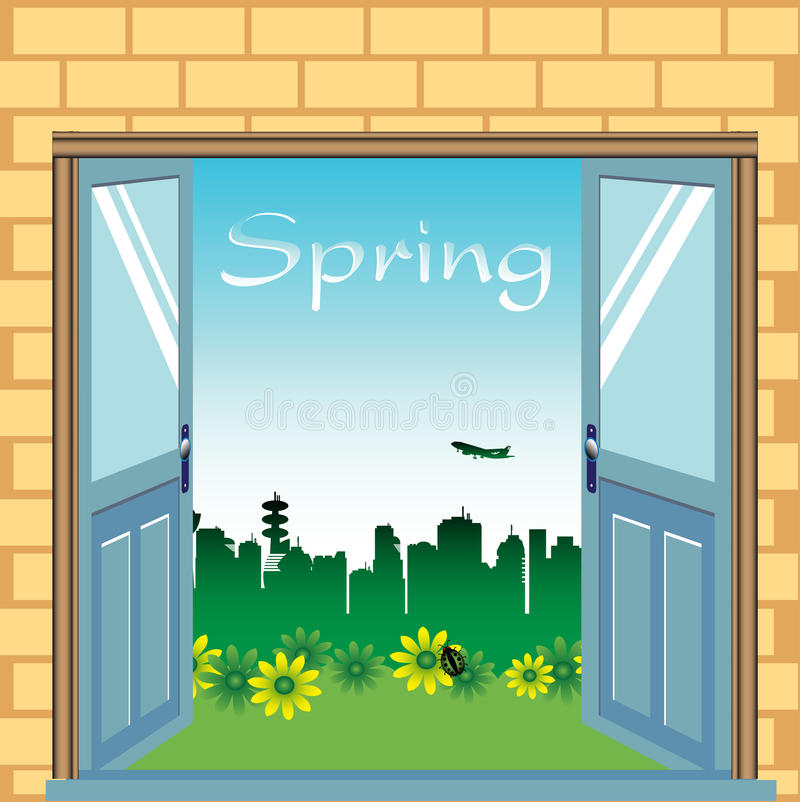 Download Open Doors During Springtime Royalty Free Stock Images - Image: 23741069