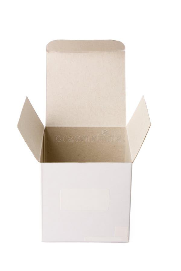 Open doos royalty-vrije stock afbeelding