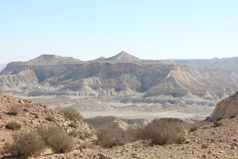 Open droog woestijnpanorama royalty-vrije stock foto