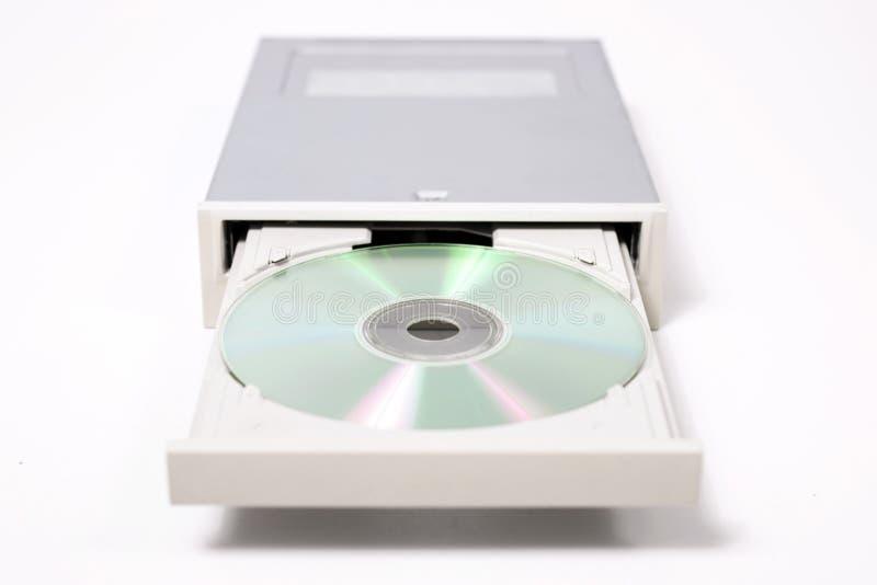 open dvd-ROM op wit royalty-vrije stock afbeeldingen