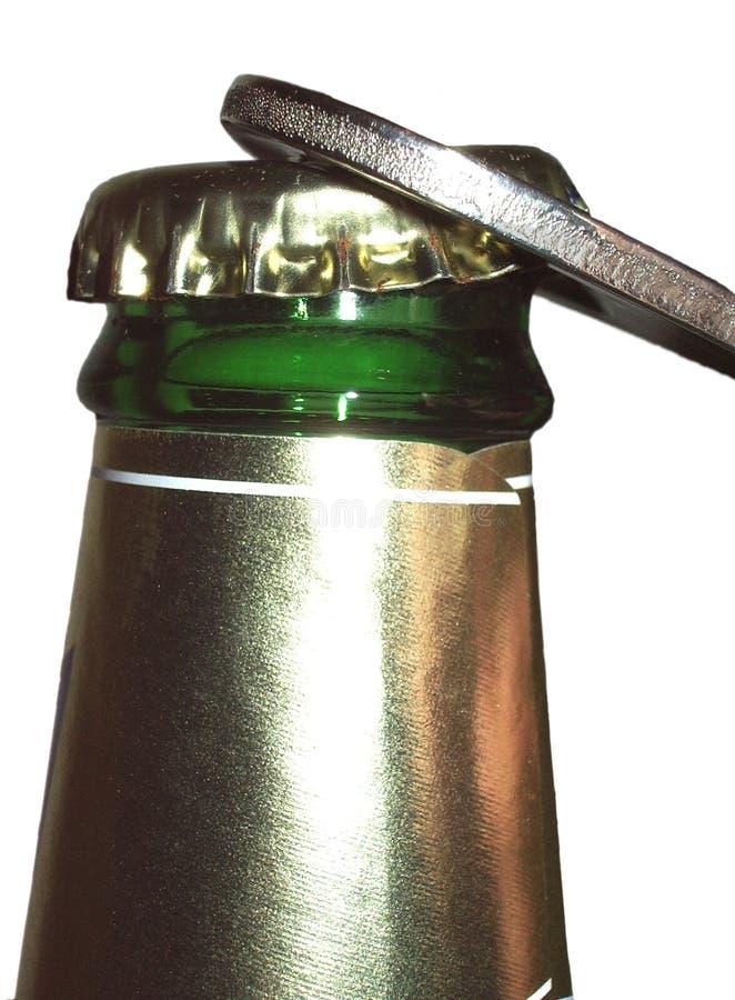 Open Een Bier Stock Foto