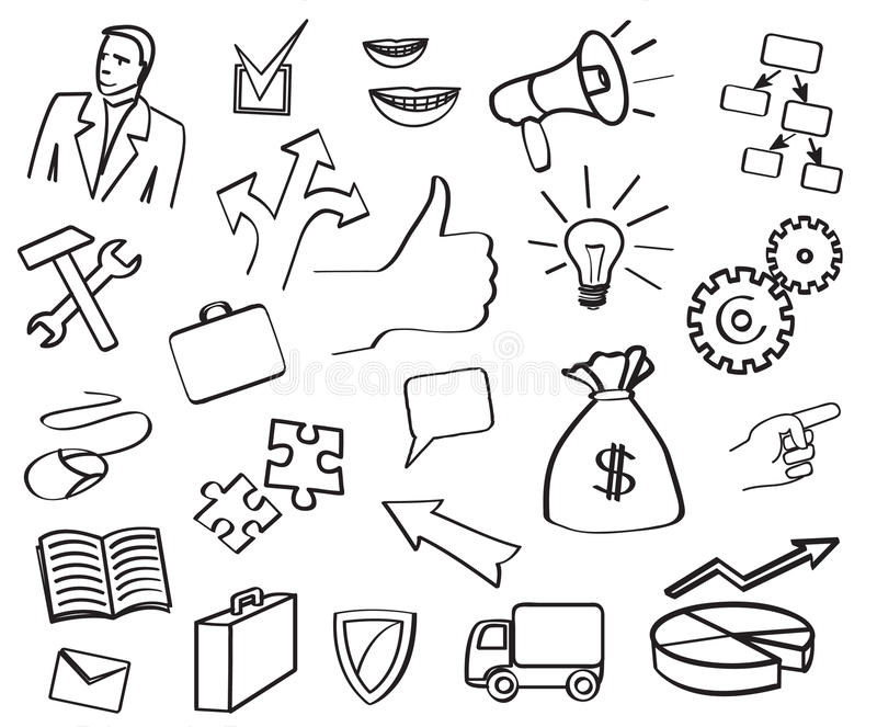 Open_elements_dima. Vector icon divisions and departments of the company royalty free illustration