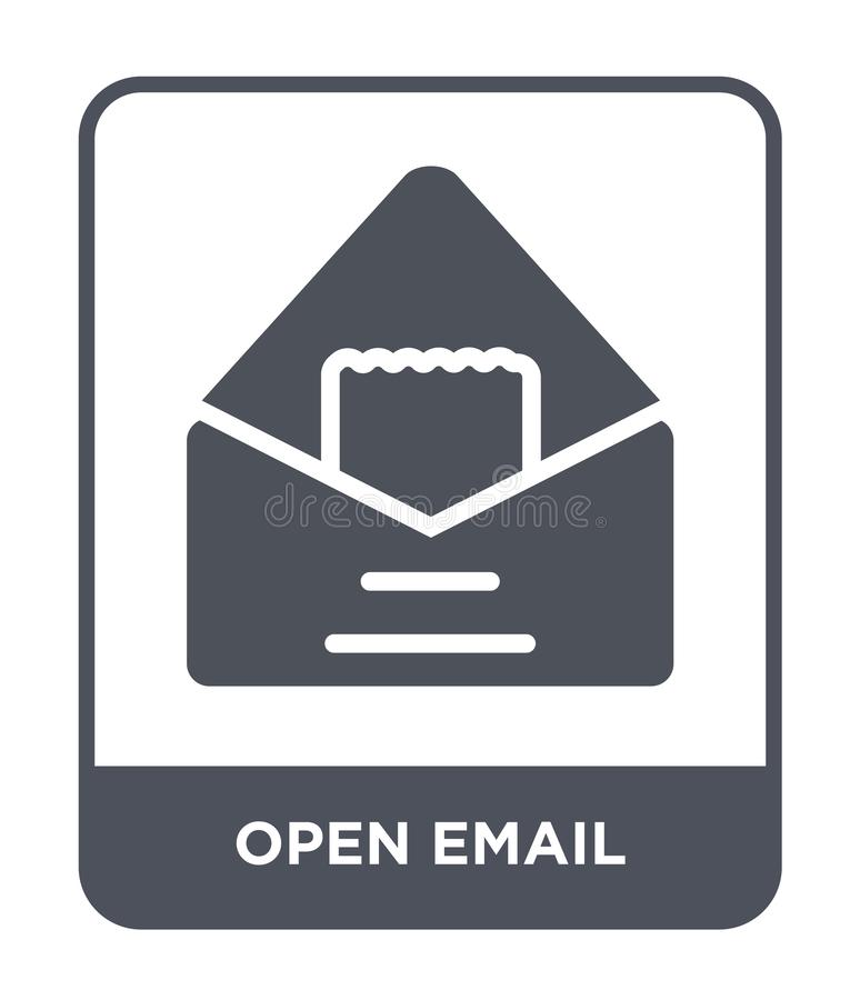 open email icon in trendy design style. open email icon isolated on white background. open email vector icon simple and modern stock illustration