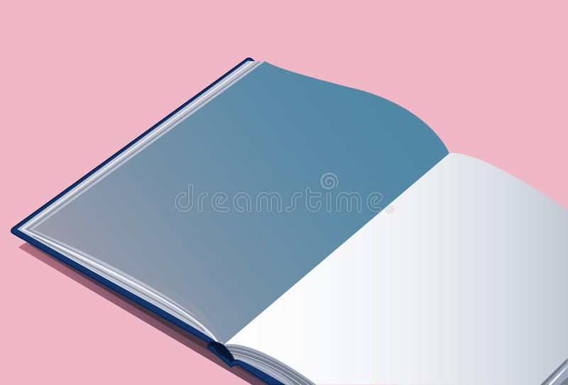 The open empty book vector background. EPS10 royalty free illustration