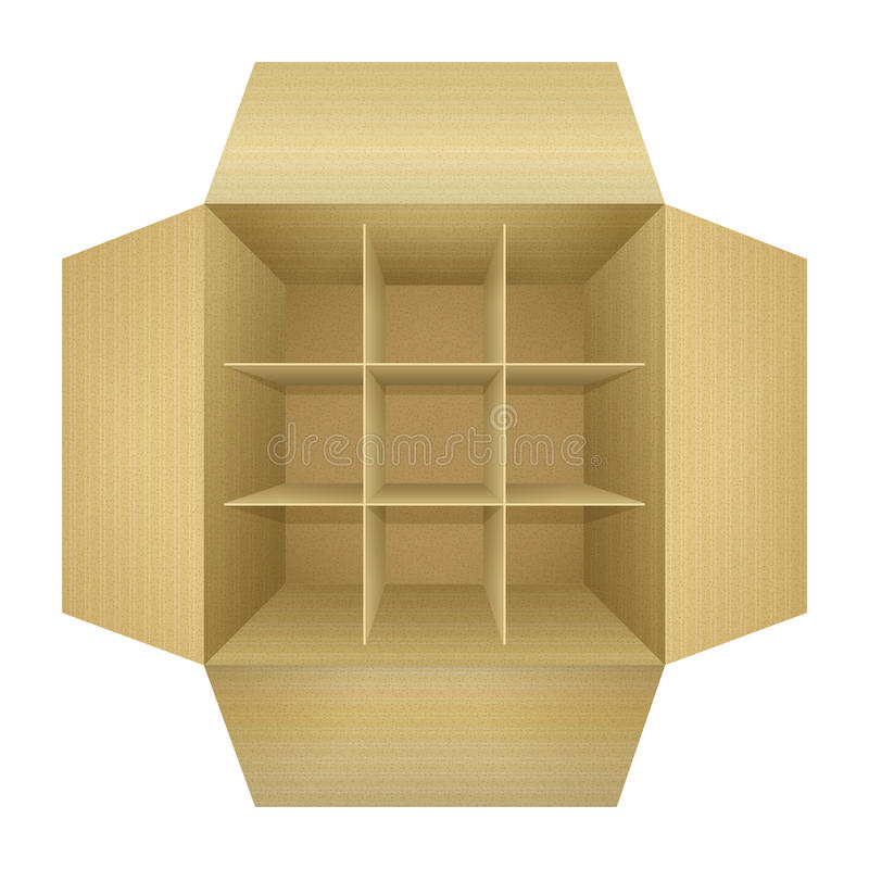 Free Open Empty Corrugated Cardboard Packaging Box Stock Photos - 29398893