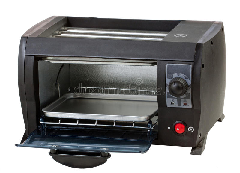 Open Empty Oven Isolated On White Stock Image - Image of ...