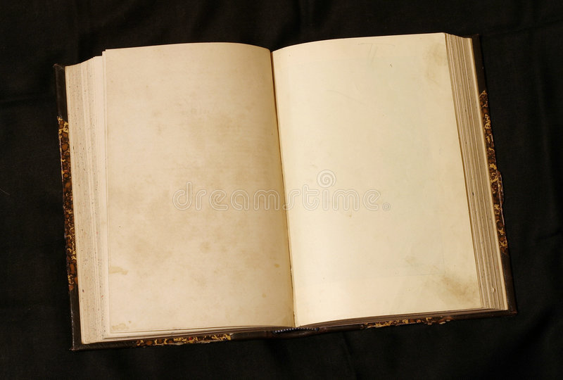 Download Open Empty Pages In Old Book Stock Photo - Image: 25968