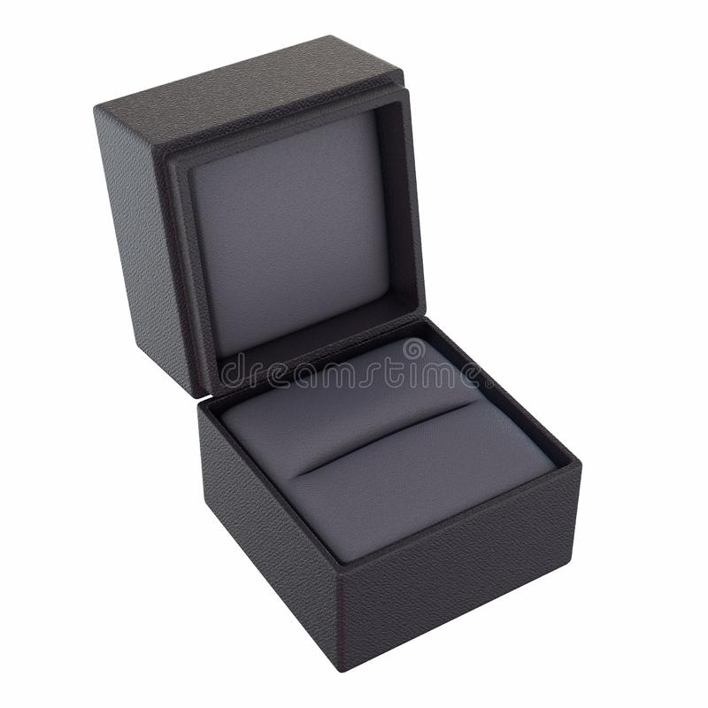 Free Open Empty Ring Box Isolated Royalty Free Stock Photography - 137814057