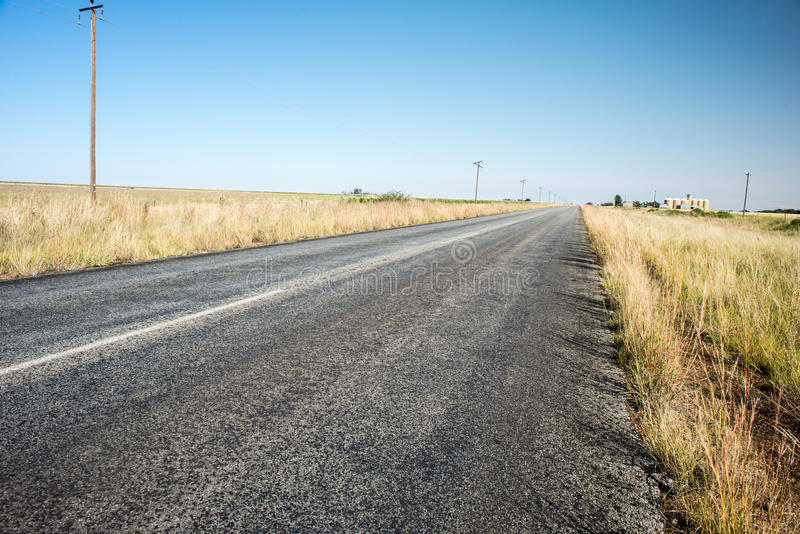 Open empty straight road stock images