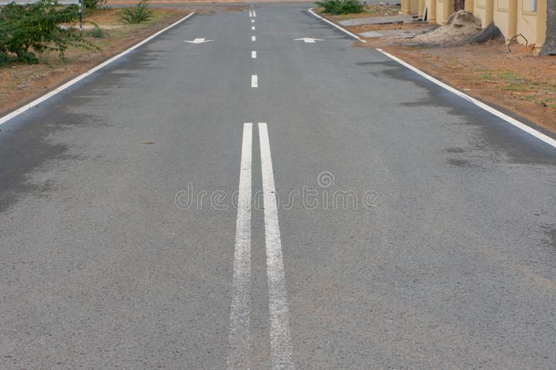 Open empty street in the desert. Conceptual. royalty free stock image