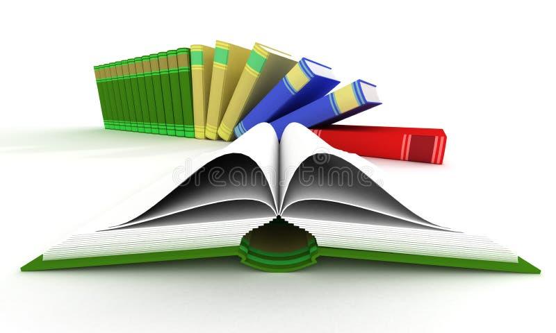 Open en dalende boeken. vector illustratie