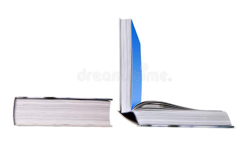 Open en gesloten boek stock foto's