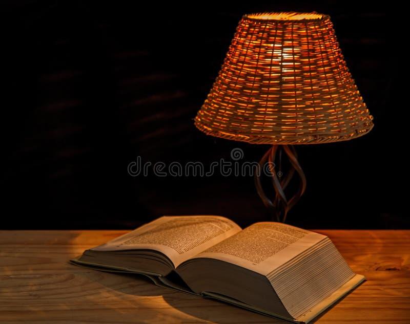 Open Encyclopedia Under Lamp Free Public Domain Cc0 Image