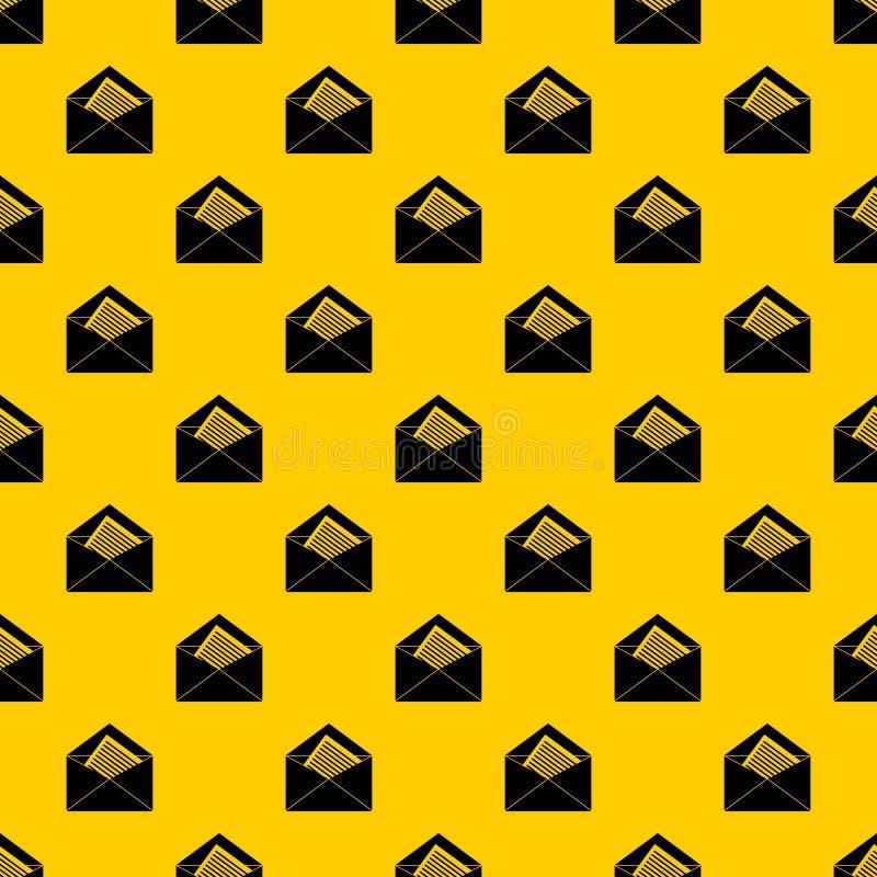 Open envelop met de vector van het blad van document patroon vector illustratie