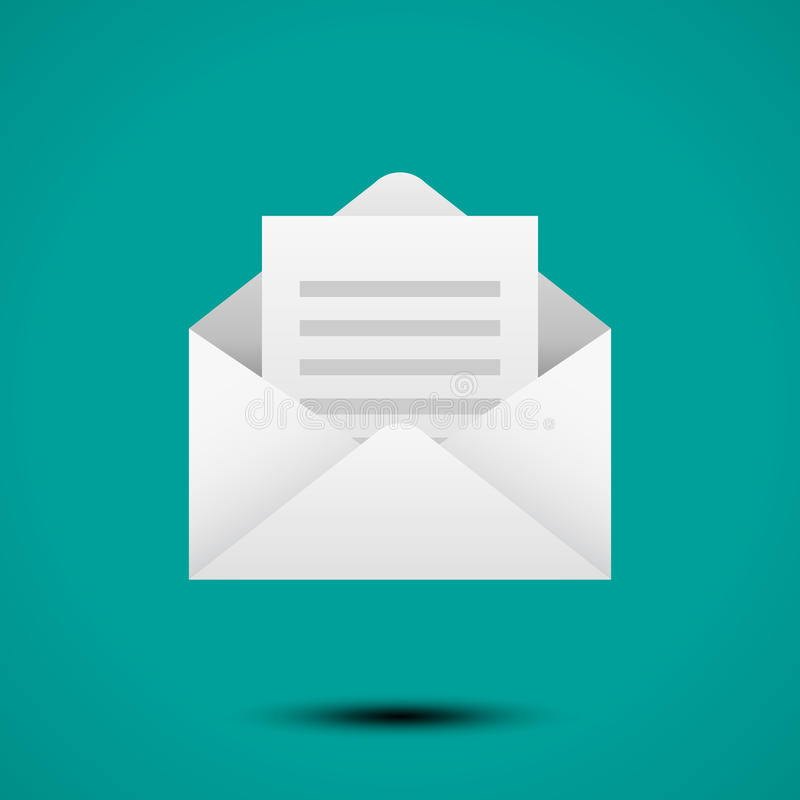 Open envelop voor brief royalty-vrije illustratie