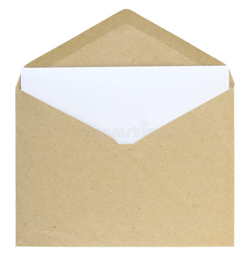 Open envelope stock photo. Image of empty, isolated