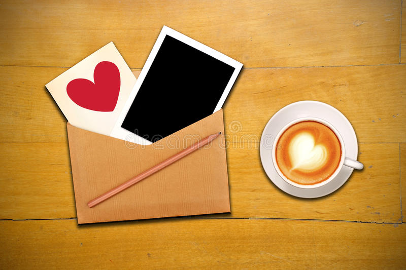 Download An Open Envelope With Cup Of Coffee Stock Illustration - Image: 19708054