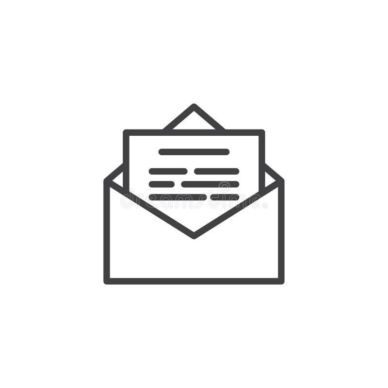 Email Open Newsletter Padlock Outline Icon Stock Vector ...