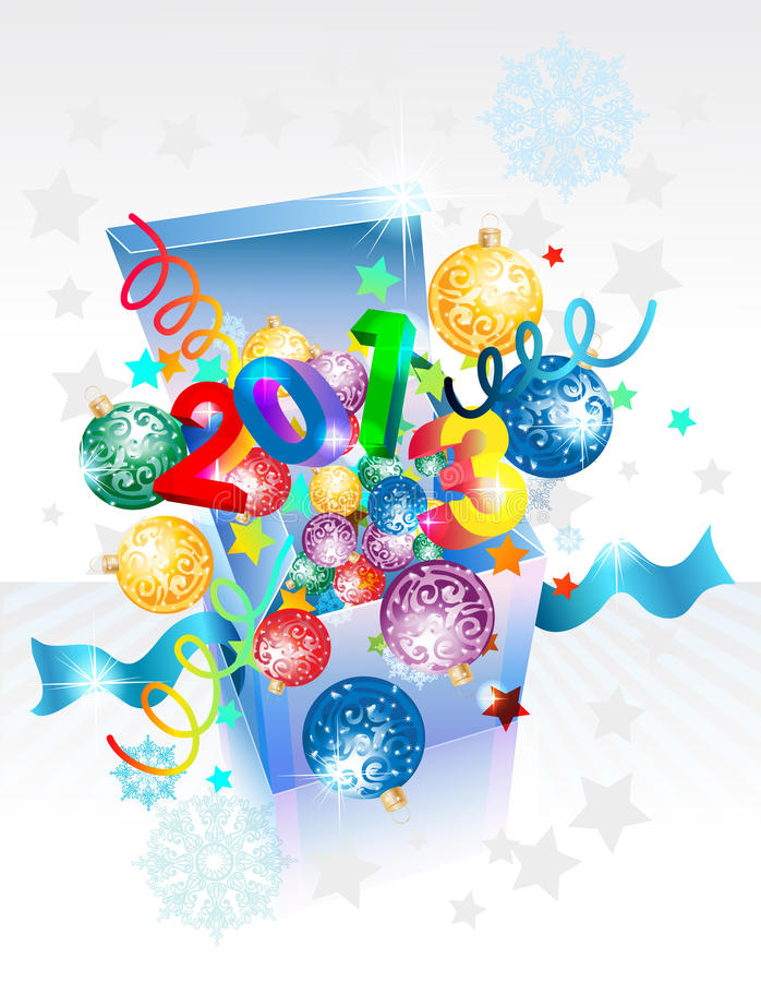 Download Open Explore Gift Box For New Year Stock Vector - Image: 27250984