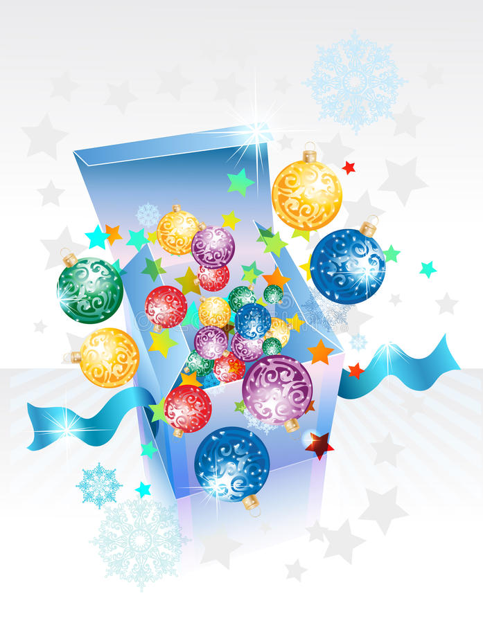 Download Open Explore Gift Box For New Year Stock Vector - Illustration: 27250997