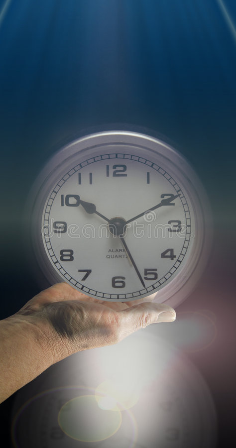 Open Face clock and time stock image