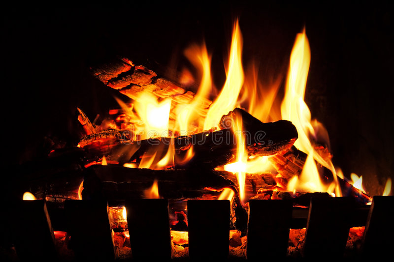 Open Fire stock photography