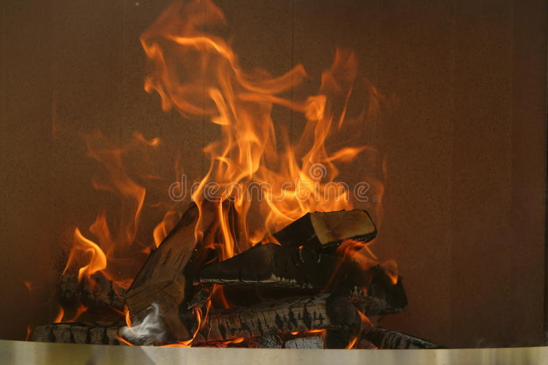 Open fire. Warm colored open fire, ingle, chiefly royalty free stock image