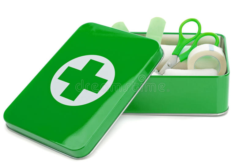 An open first aid box vector illustration