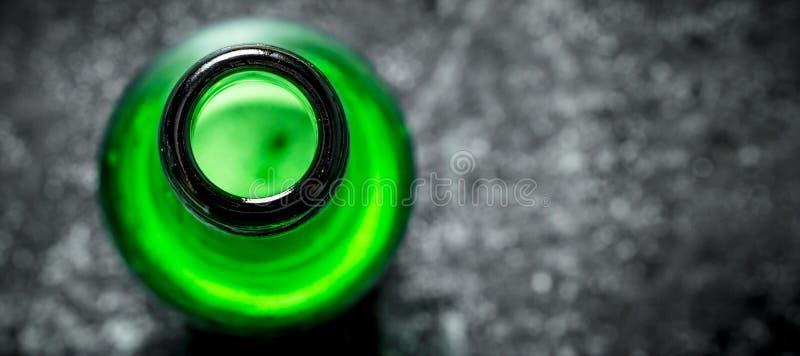 Open fles bier stock foto