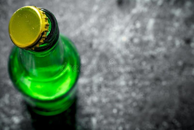 Open fles bier royalty-vrije stock fotografie