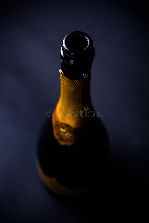 Open fles champagne royalty-vrije stock foto's