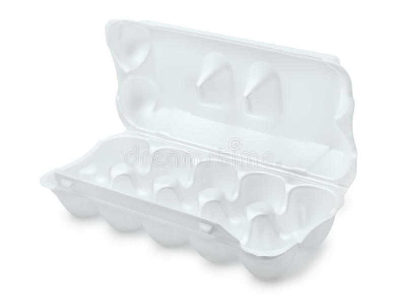 Open foam egg box royalty free stock images