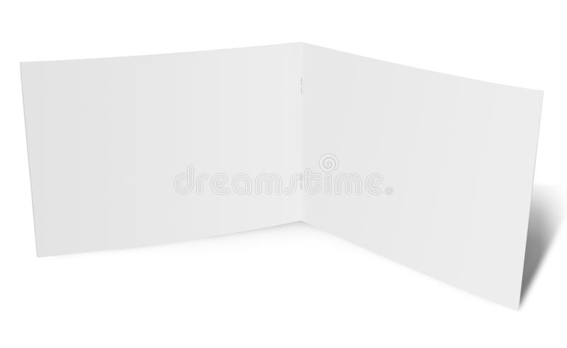 Open folded paper flyer. Ready for your design stock photos
