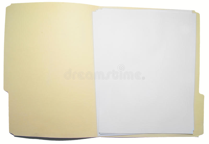 Download Open folder stock image. Image of file, documents, empty - 17419095