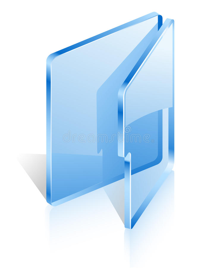 Download Open folder stock vector. Image of vector, icon, isometric - 22763160