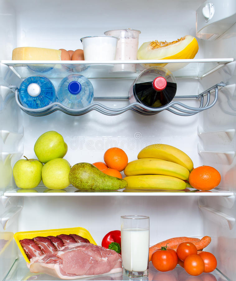Download Open fridge full of fruits stock image. Image of food - 29091283