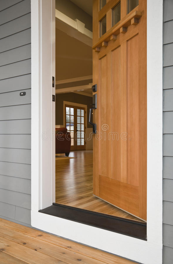 Open Front Door of a Home royalty free stock photo
