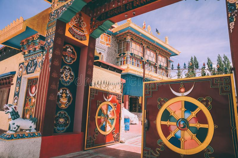 Open gates and entrance to the Leh city. In Indian Himalayas royalty free stock images