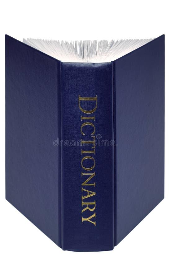 Open geïsoleerde Woordenboek stock afbeeldingen