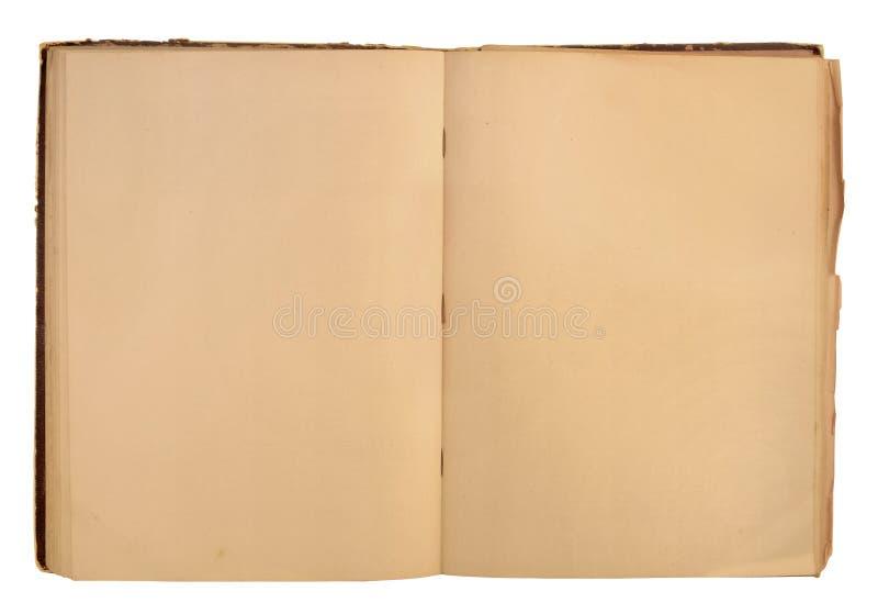 Open gebruikt boek stock foto