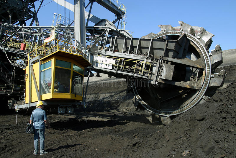 Open - gegoten mijnbouw stock foto's