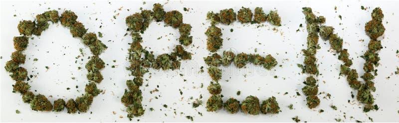 Open Gespeld met Marihuana stock illustratie