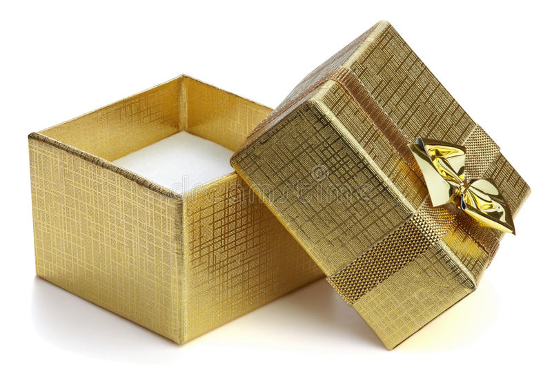 Download Open gift box. stock photo. Image of package, golden - 16835770