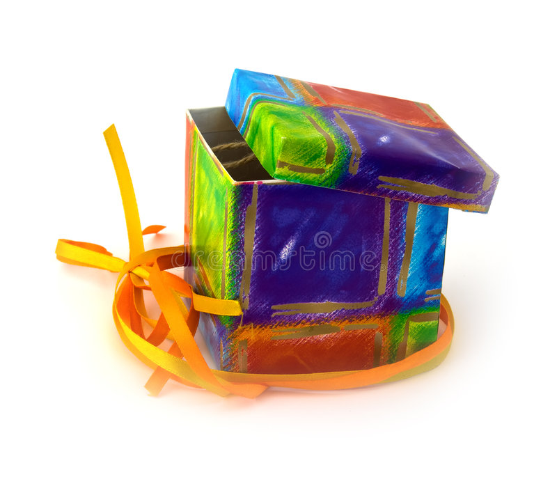 Download Open gift box stock image. Image of object, card, surprise - 8333903