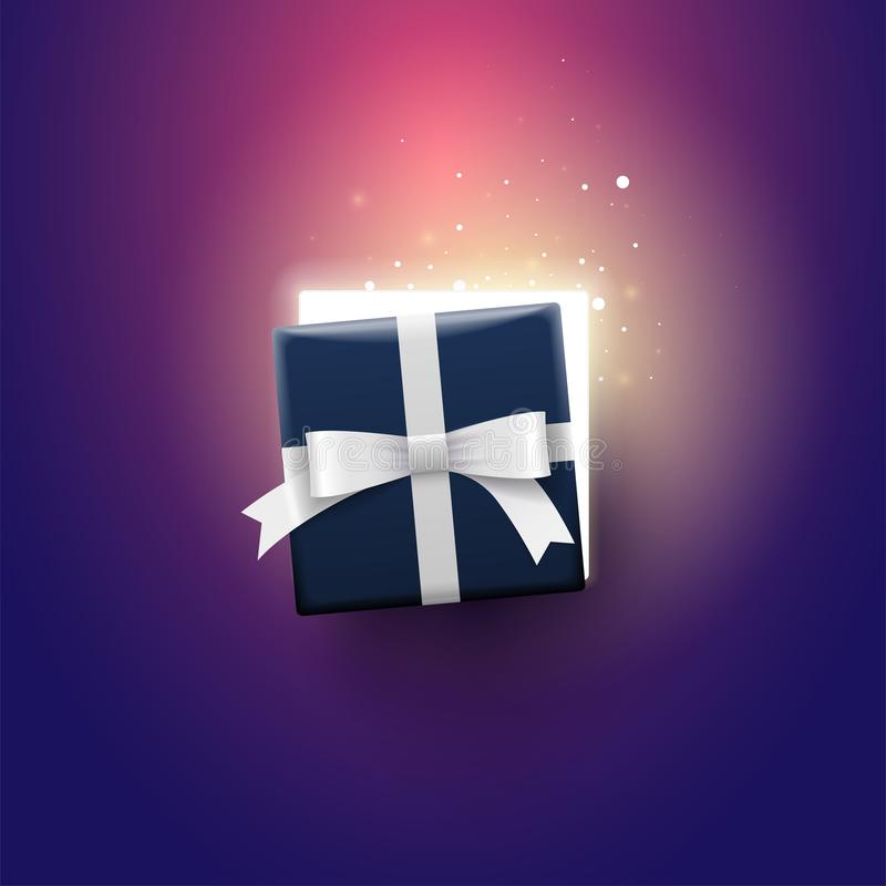 Open Gift Box Top View stock illustration