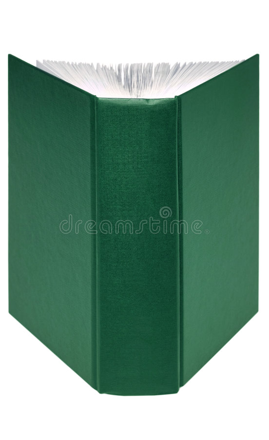 Open green book royalty free stock photography